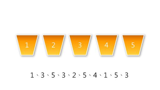 丟 5 面的骰子 10 次