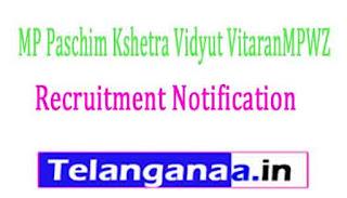 MP Paschim Kshetra Vidyut VitaranMPWZ Recruitment Notification 2017