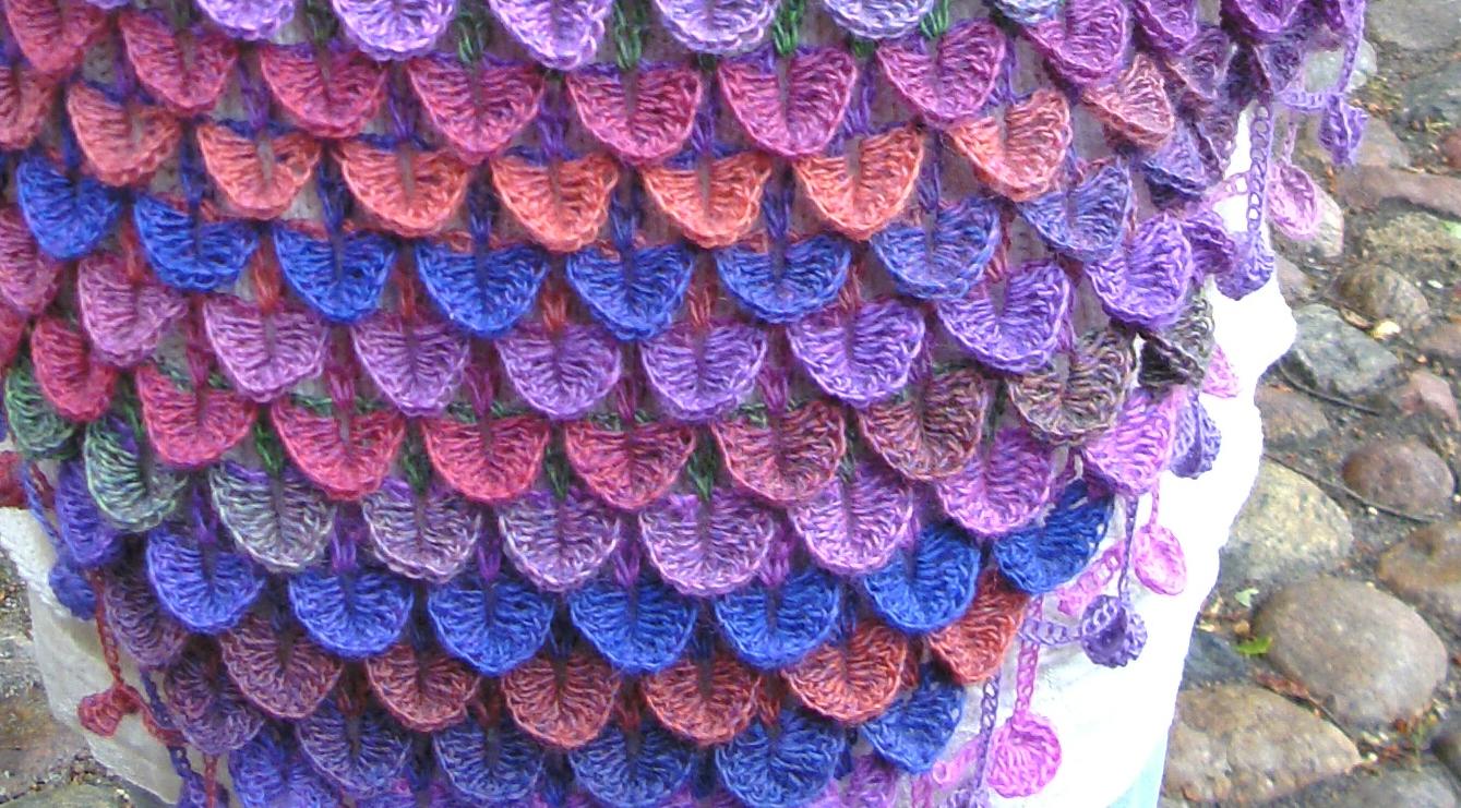 b2ee6f010 Havfrue tæppe hæklet