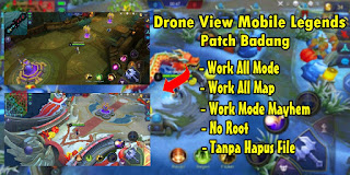 Tutorial Drone View Mobile Legends Work All Map Patch Badang