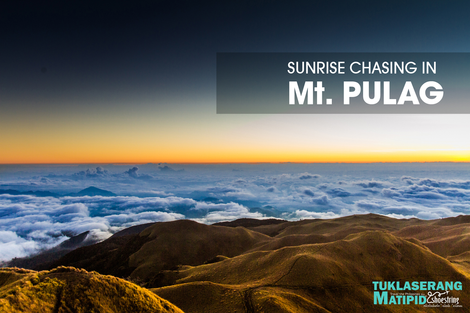 Sunrive view of Mt. Pulag