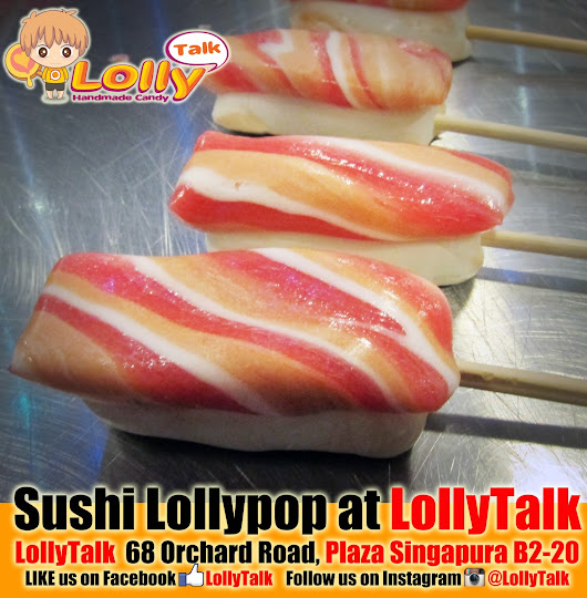 Sushi Lollypop... Handcrafted by LollyTalk.