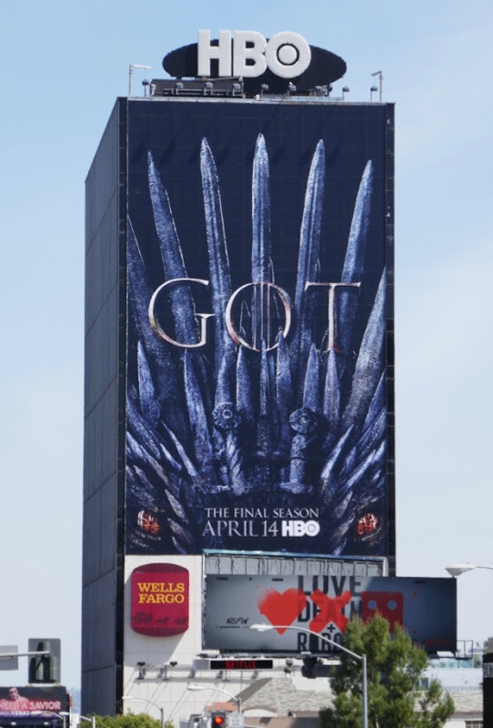 Giant Game of Thrones final season billboard