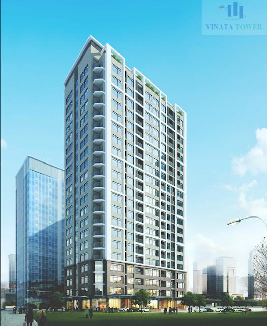 Phối cảnh toà nhà chung cư 2B Vinata Tower