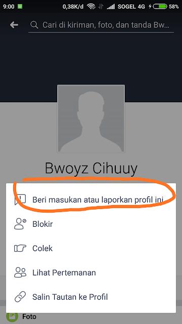 Report Facebook Profile 1