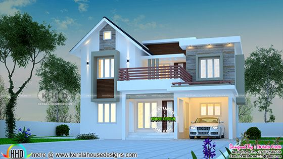 1638 square feet modern home design