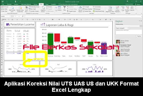 Download Aplikasi Koreksi Nilai UTS UAS US dan UKK Format Excel Lengkap