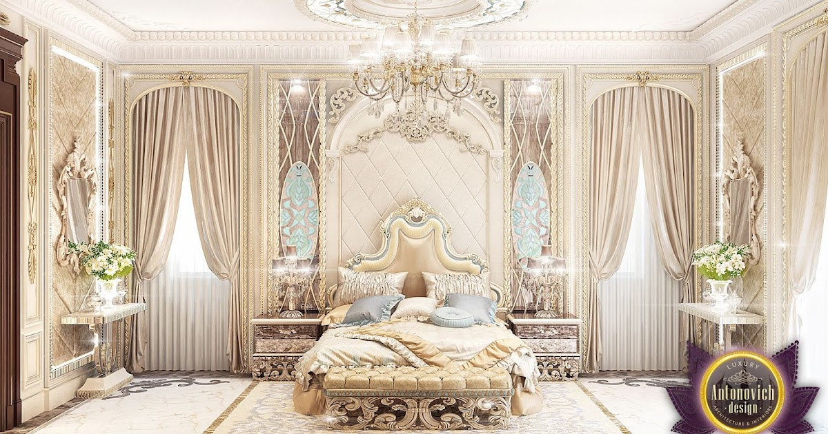 luxury antonovich design uae luxury royal arabic master bedroom of luxury antonovich design. Black Bedroom Furniture Sets. Home Design Ideas