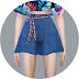 Skirt Pants With Belt_치마바지와 벨트_여자 의상