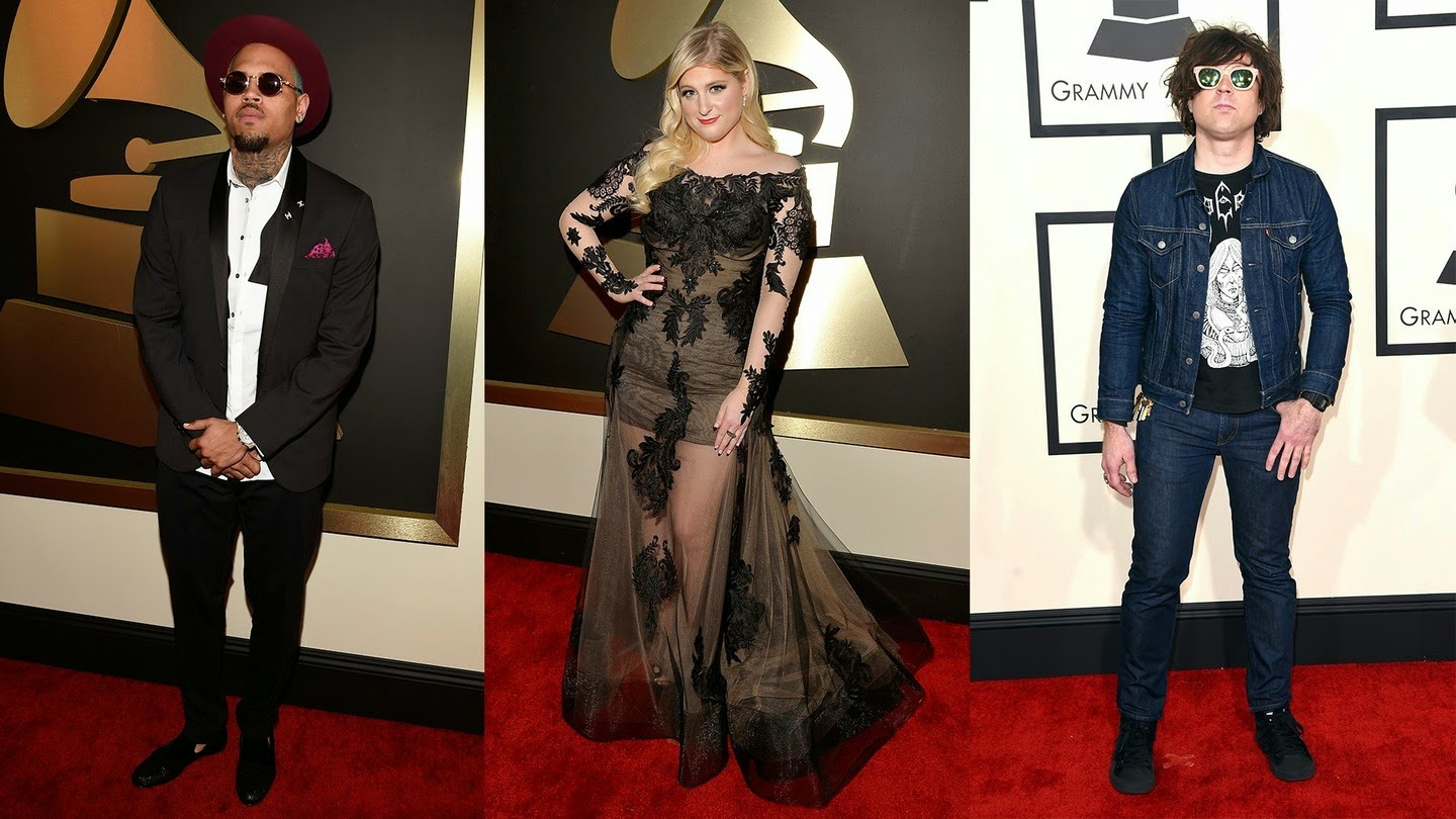 Chris Brown, Meghan Trainor, Ryan Adams