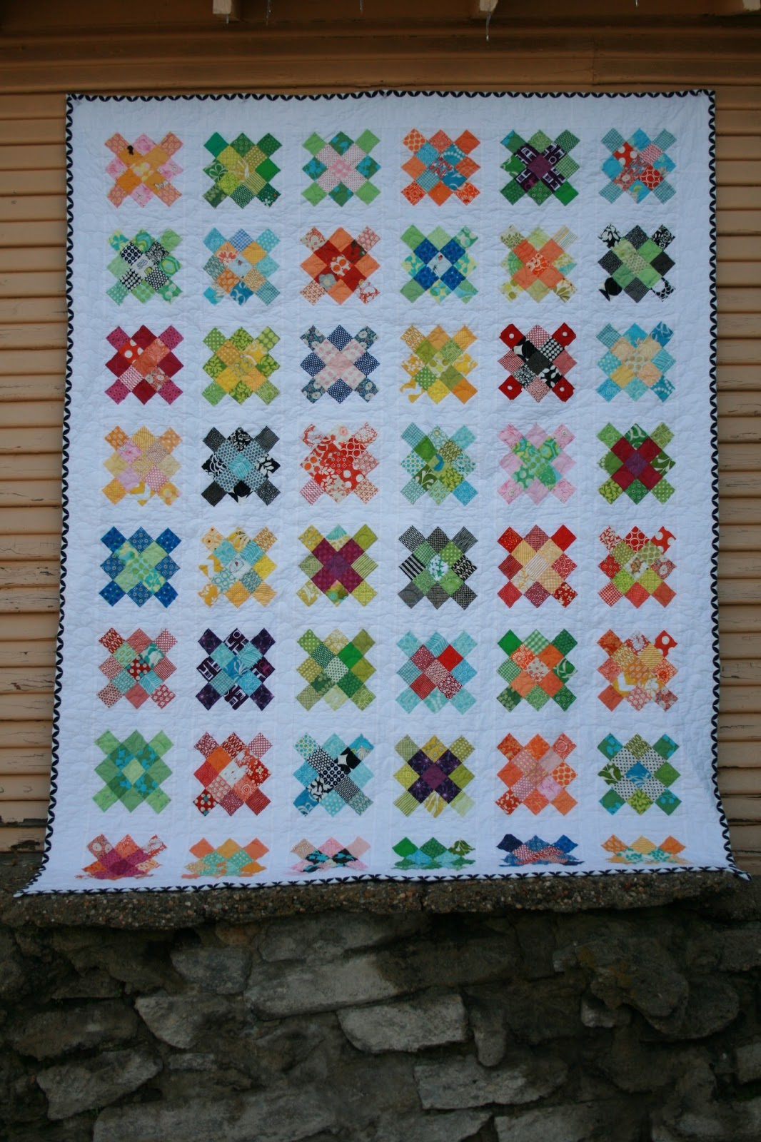 Leedle Deedle Quilts Granny Square Quilt Finished