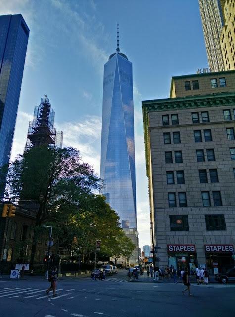 Blick auf das One World Trade Center in New York City