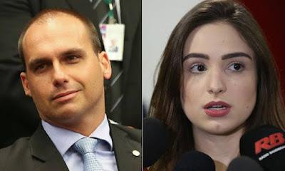 Denúncia detalha ameaça de Eduardo Bolsonaro a jornalista Patrícia Lélis