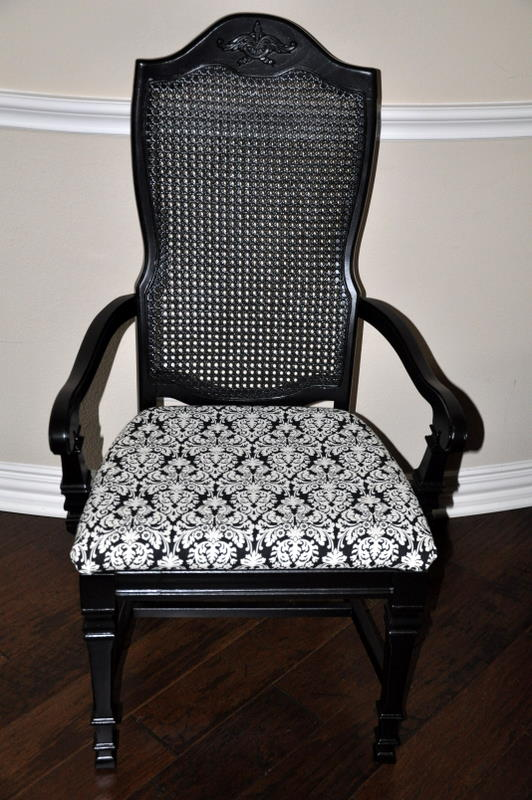 How To Reupholster Dining Chairs Posture Chair Meaning Professional Underwear Folder: Double Trestle Base Table With 6 Cane Back ...