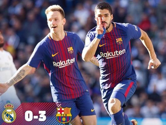 Real Madrid-Barcellona: Risultato El Clasico firmato Suarez, Leo Messi e Aleix Vidal | Calcio Liga Spagna