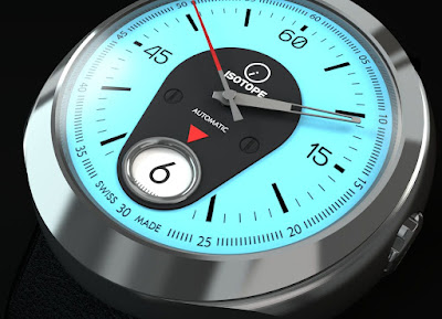 Isotope Rider Jumping-Hour watch