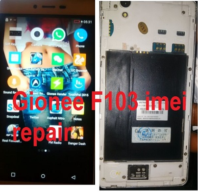 Gionee f103 imei  invalid/null repair solution