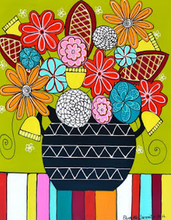 modernas-pinturas-con-diseños-florales