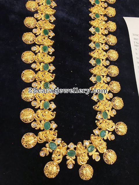 Ramparivar with Large Emeralds
