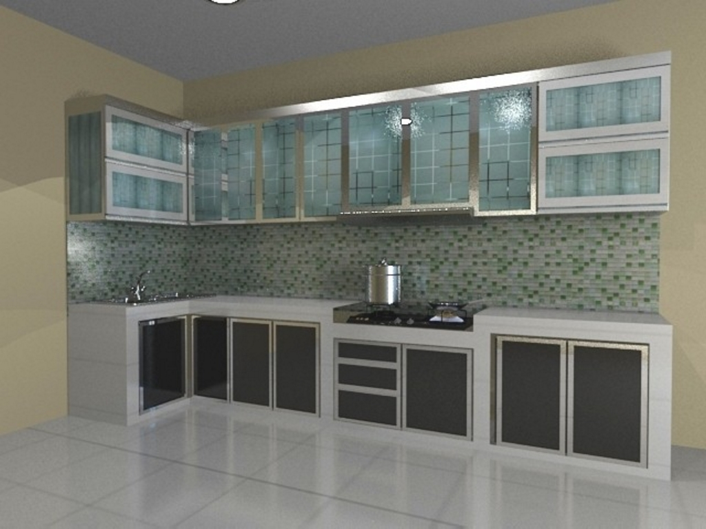 kitchen set bahan aluminium 1