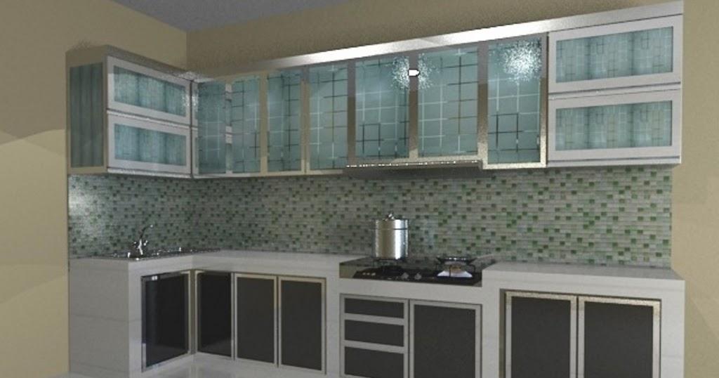 Model kitchen set bahan aluminium menarik for Model kitchen set aluminium