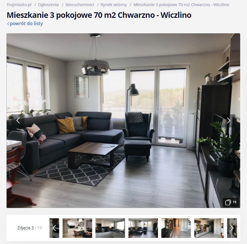 a53b7e5927 Wygodne mieszkanie dla rodziny w Gdyni na os. Sokółka Zielenisz