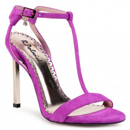 Sandale dama elegante fuchisa piele naturala cu toc inalt R.POLAŃSKI