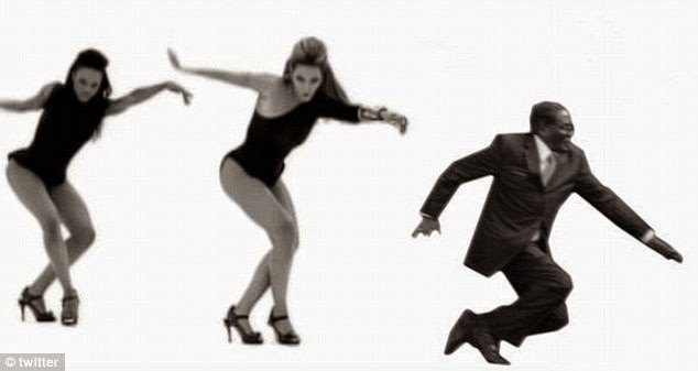 Mugabe shakes a leg with Beyonce in hit album ladies via geniushowto.blogspot.com #mugabefalls memes