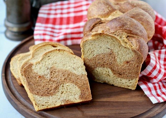 Slices of Braided Rye Bread