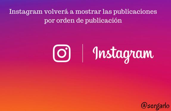 Instagram, redes sociales, social media, orden, publicaciones