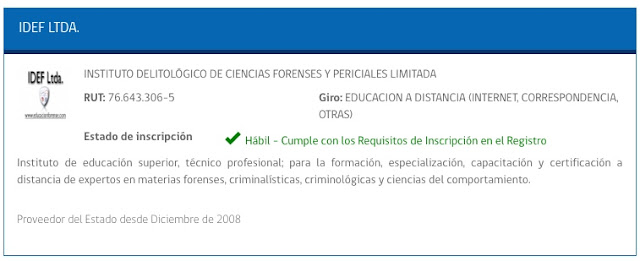 Instituto Ciencias Forenses IDEF Ltda.
