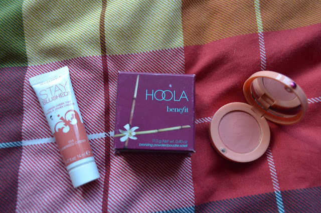 Bourjois cream blush, Rimmel stay blushed and Benefit Hoola