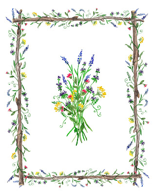 Wild Floral in Watercolor Rustic Chick Style