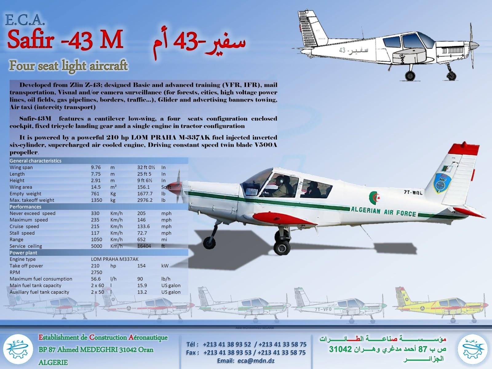 مؤسسة صناعة الطائرات من التركيب الى التصنيع بسواعد جزائرية 651446Safir43M