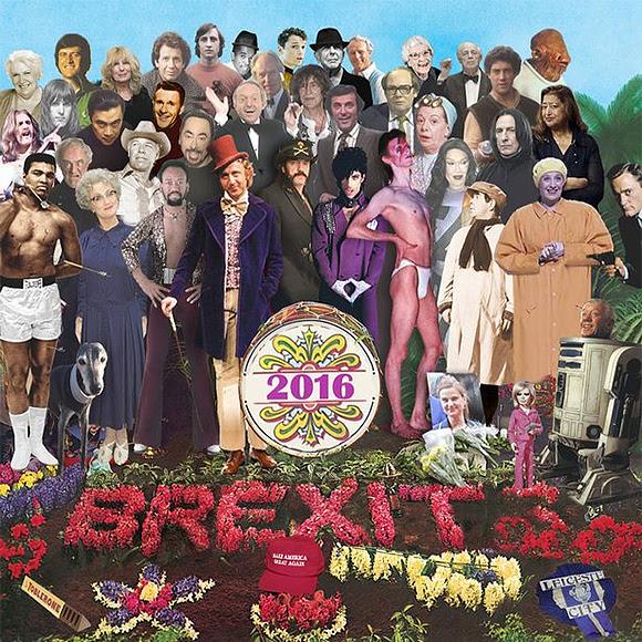 Pochette «Sgt. Pepper» : hommage aux personnalités disparues en 2016