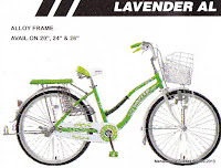 City Bike United Lavender AL Rangka Aloi 24 Inci
