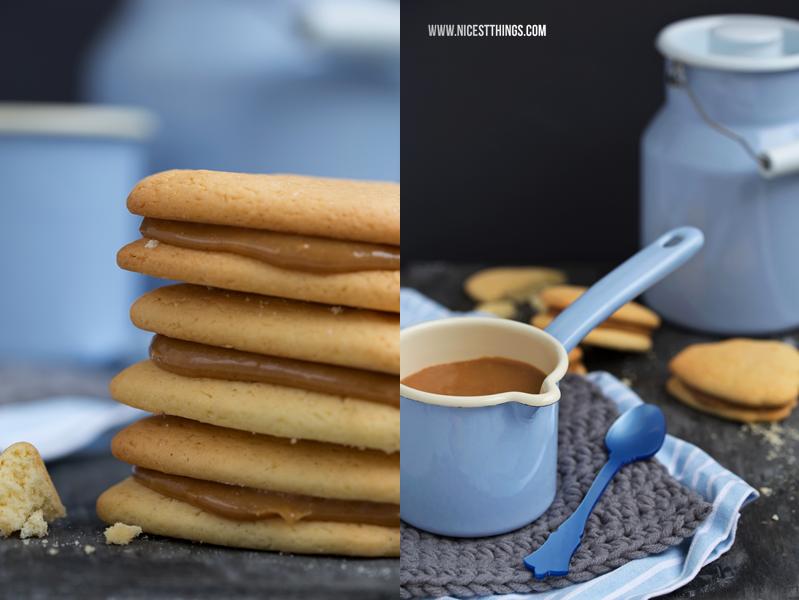 Alfajores Kekse mit Dulce De Leche Füllung