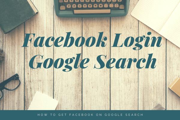 Facebook Login Google Search