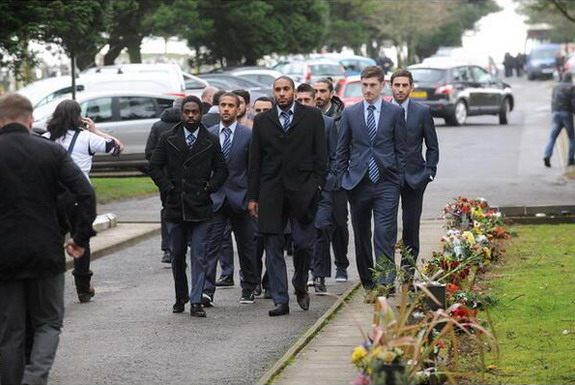 Swansea players attend funeral of young fan who died watching them play on TV