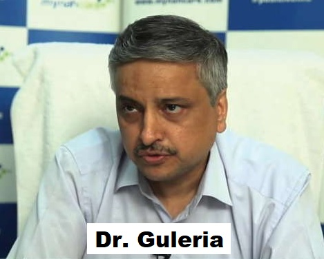 Who is Dr. Guleria who was doing for 20 years of Atalji's treatment? Got padmashiri for his best service.