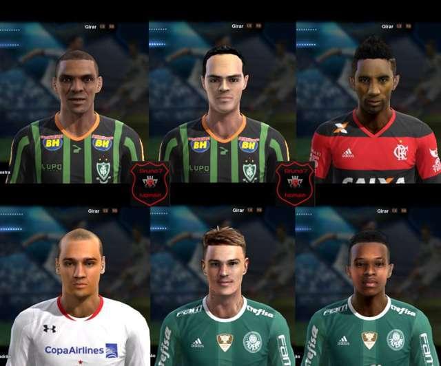 PES 2013 Brasileirão Facepack 2016