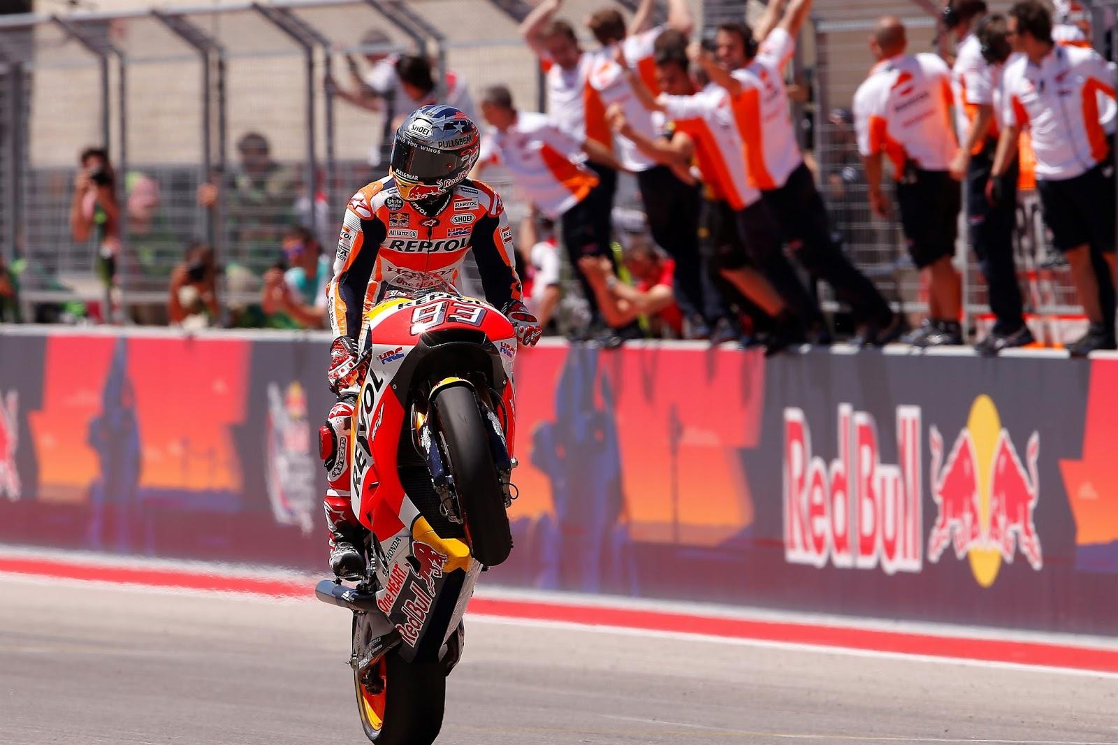 Αριστοτεχνική νίκη του Marquez στο Texas,  με τον Pedrosa στην τρίτη θέση