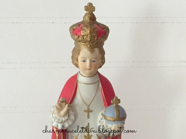 Chalk statue Infant of Prague