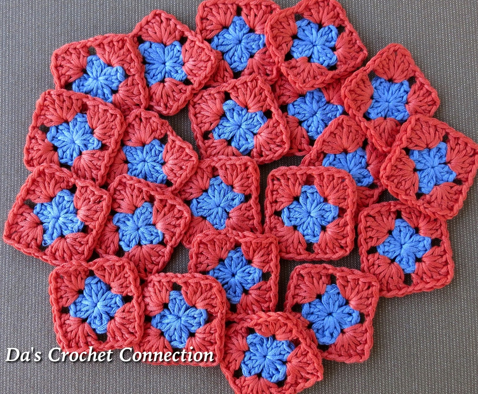 Da\'s Crochet Connection: Mini Granny Square Bandana