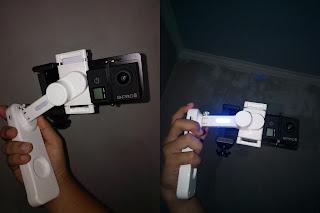 aku pernah mengulas sebuah gimbal atau stabilizer yang diperuntukkan bagi smartphone Adapter untuk Memasang Action Camera ke Smartphone Gimbal (Stabilizer)
