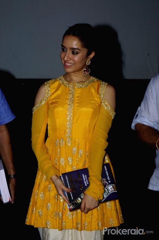 Shraddha Kapoor in Yellow dress at 48th International Film Festival of India