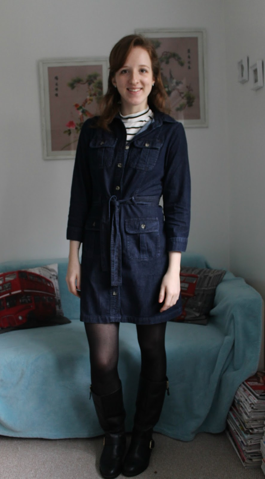 Everything But The Kitchen Sink Ootd Denim Dress And