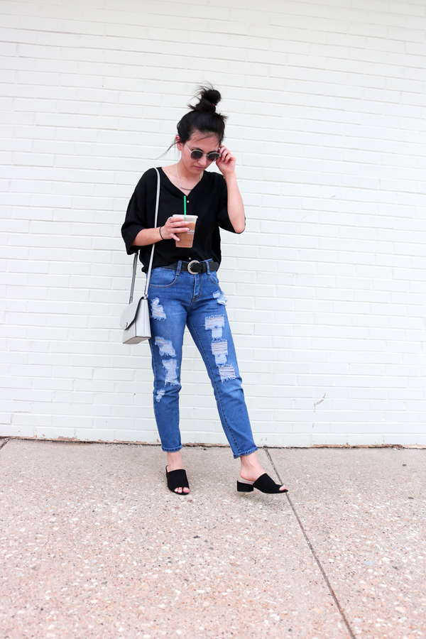 how to style black mules for spring