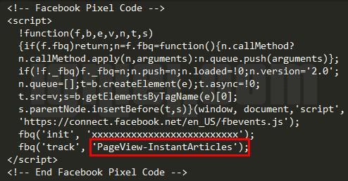 Cara Memasang Script Facebook Pixel Di Dalam Instant Articles