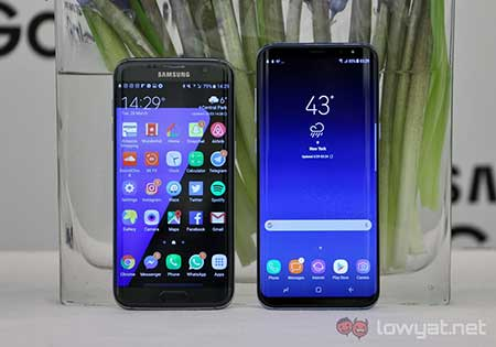 Perbedaan Galaxy S7 Dengan S8